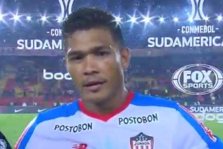 Teo calentó la previa de la final de la Libertadores. Captura/Fox