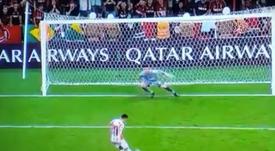 Teo Gutiérrez falló el penalti. Captura/Movistar