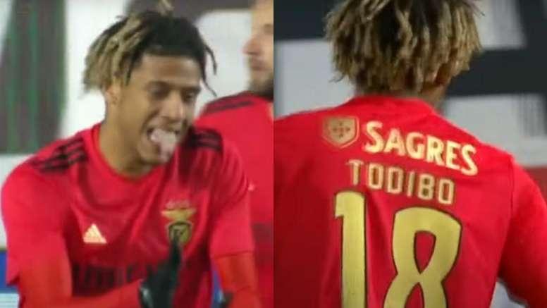 Todibo debutó con el Benfica y jugó los 90 minutos. Captura