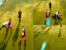 El cabezazo de Zidane se repitió en la Sexta de Holanda. Captura/TyCSports