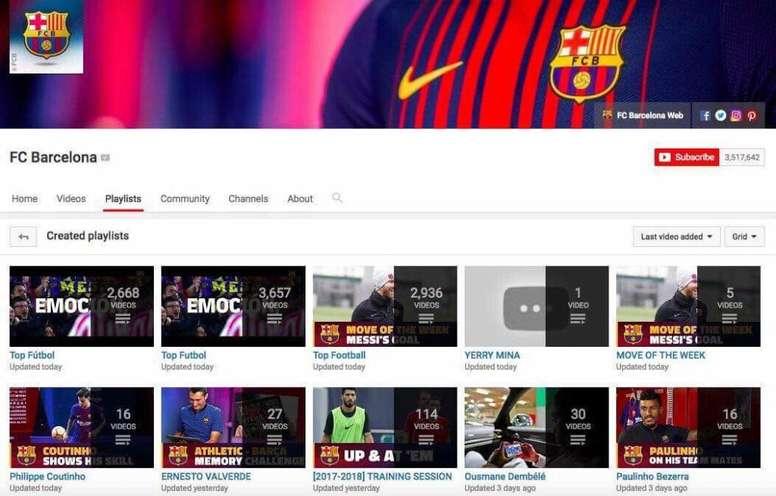 Apareció un vídeo de Yerry Mina en la cuenta de Youtube del Barcelona. Captura/FCBarcelona