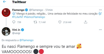 Vinicius se acordó de Flamengo. https://fotos.subefotos.com/6776c396255147ee97e7ec677770f081o.png