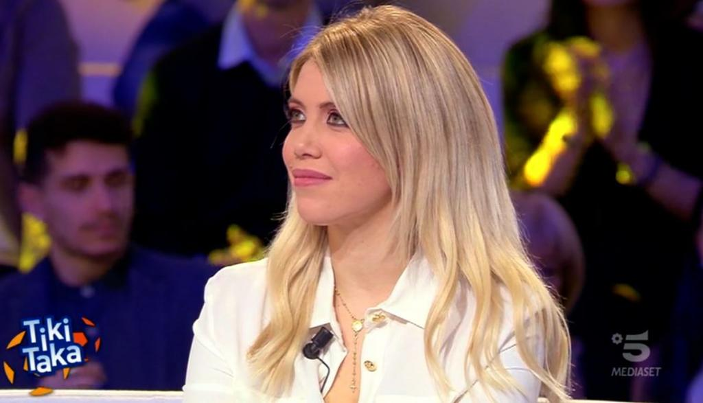 Wanda Nara, lloró por Mauro Icardi en la TV italiana