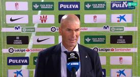 Zidane destacó el trabajo de sus jugadores. Captura/Movistar