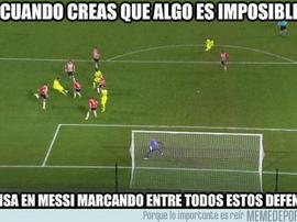 Messi, el gran protagonista de los 'memes'. MemeDeportes