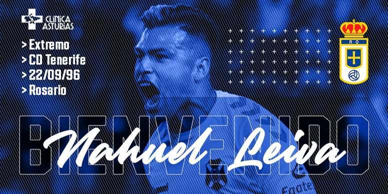 Nahuel Leiva, al Oviedo. Twitter/RealOviedo