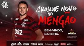 Rafinha se marcha a Flamengo. Flamengo