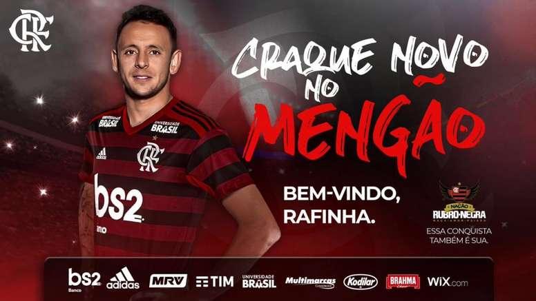 Rafinha é confirmado como atleta do Flamengo. Flamengo