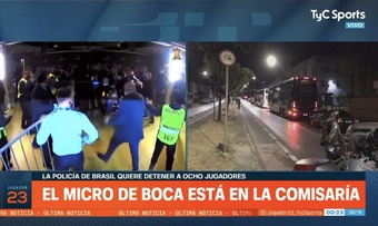Hell broke loose after Boca Juniors lost to Atletico Mineiro. Screenshot/TyCSports