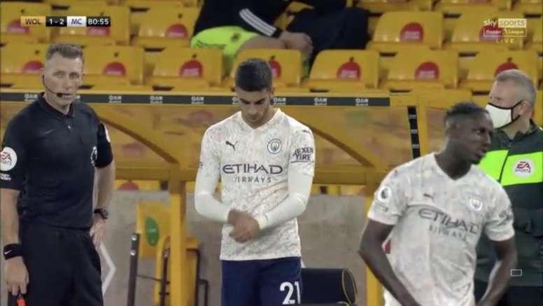Torres makes his debut. Screenshot/SkySports