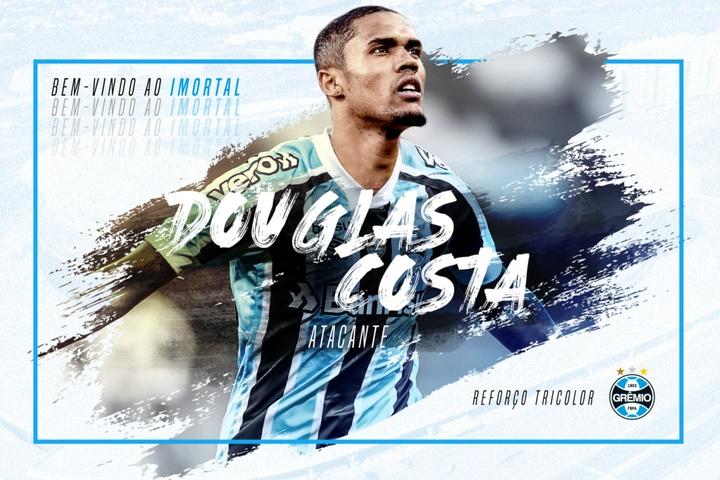 Grêmio relaciona Douglas Costa pela primeira vez. EFE