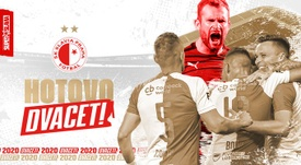 El Slavia ganó el campeonato con 5.000 personas. Twitter/slaviaofficial
