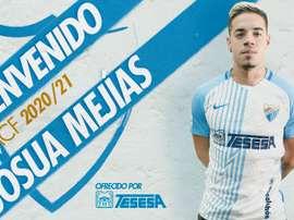 Nueva llegada en el Málaga. Twitter/MalagaCF