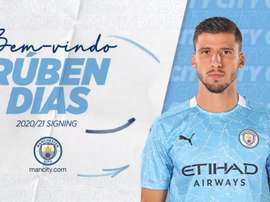 City have announced the signing of Rúben Dias. Twitter/ManCity