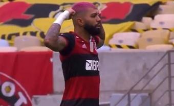 Gabigol firmó la remontada y acerca el título a Flamengo. Captura