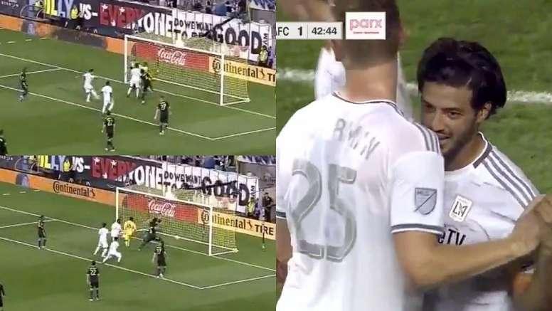 Vela volvió con un 'churrigol'. Captura/MLS