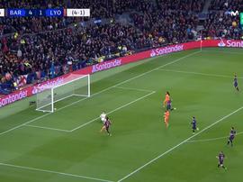 Dembélé cerró el partido con el 5-1. Captura/MovistarLigadeCampeones