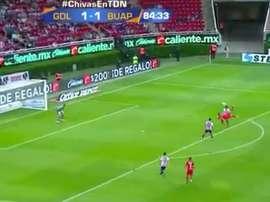 Escoto firmó un golazo ante Chivas en el tramo final de partido. Twitter/TDN