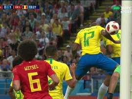 Fernandinho a mis lui-même le ballon dans les cages de son gardien. Capture/DirecTVSports