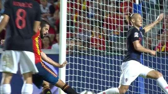Isco a inscrit le dernier but de l'Espagne. Capture/TVE