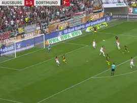 Capture du but de Kagawa lors de Augsburg-Borussia.Twitter