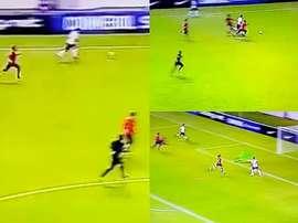 Ayrton Lucas se recorrió casi todo el campo para darle el gol a un compañero. Captura
