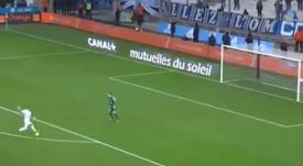 Payet lesionó al portero rival tras marcar. Captura/Canal+