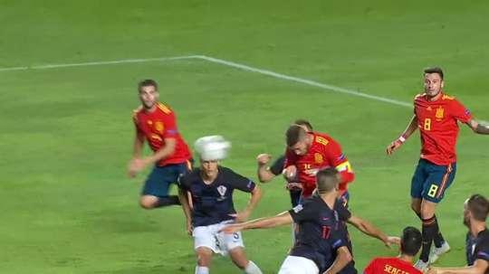 Ramos marque le cinquième but. Capture/TVE