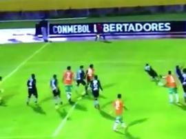Sperduti metió a Banfield en la siguiente ronda de la Libertadores. Captura/FoxSports