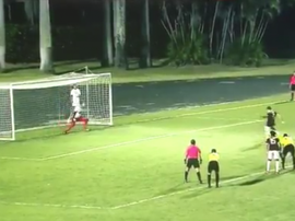 Carabobo empató el partido con ocho jugadores en el minuto 95. Captura/TLT