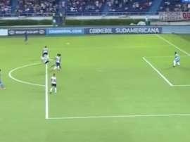 El conjunto paraguayo anotó el tanto del honor por mediación de Ruiz. Twitter