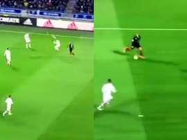 El Rennes se adelantó tras un fallo defensivo del Lyon. Captura/beINSports