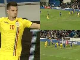 Ianis Hagi scored a fantastic goal against Bosnia and Herzegovinia U21s. Captura/ProX
