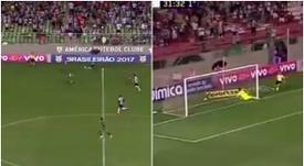 Rómulo Otero anotó un gran gol en el Brasileirao. Twitter