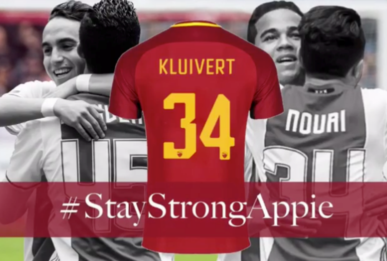 Maillot Domicile ROMA JUSTIN KLUIVERT