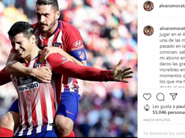 Morata made an emotional farewell. Instagram/alvaromorata