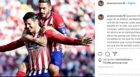 Morata made an emotional farewell. Instagram/alvaromorata
