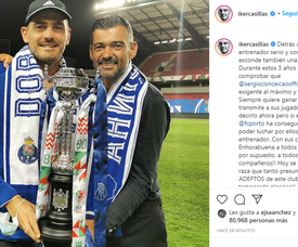 Casillas levantou a Taça de Portugal e agradeceu o gesto do Porto. Instagram/ikercasillas