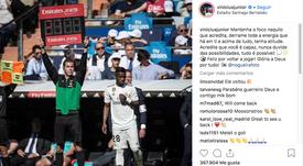 Vinicius est revenu. Instagram/Vinicius