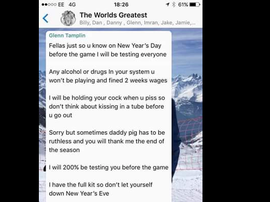 El presidente del equipo advierte a sus jugadores para el partido de Año Nuevo. Captura