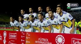 Boca estrenó su segunda equipación. Captura/TNTSports