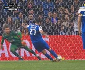 O golo de Sérgio Oliveira não valeu. Captura/beINSports