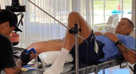 ¿Guiño a Boca? Rojo se tatuó a Maradona en la piel. Instagram/marcosrojo