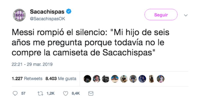 La verdad de las declaraciones de Messi. Sacachispas