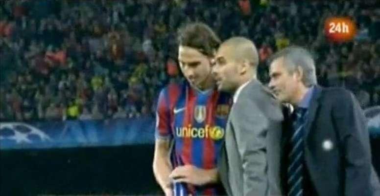 Mourinho révèle ce qu'il a soufflé à l'oreille de Guardiola lors de Barça-Inter. Capture/RTVE