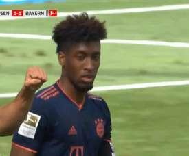 Coman garantiu o empate do Bayern. Captura/MovistarLigadeCampeones