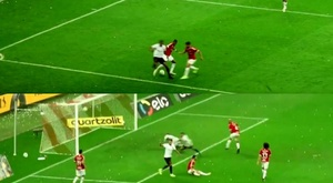 Cirino bailó y humilló a su rival antes de asistir en el gol que vale una Copa. Captura/EsporteInter
