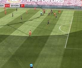Bayern começa perdendo por milímetros. Captura/MovistarLigadeCampeones