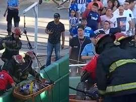 Fue la parte negativa del duelo entre Talleres y Belgrano. Captura/TNTSports
