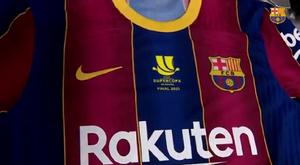 Confira os detalhes da camisa do Barça. Captura/FCBarcelona